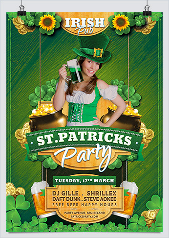 Saint Patricks Celebration Day Flyer