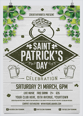 St. Patrick's Day Flyer by creativeartx