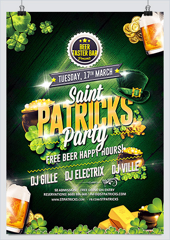 Saint Patricks Party Flyer