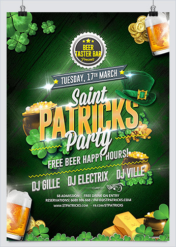 Printable Saint Patricks Party Flyer