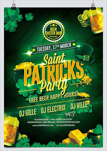 Saint Patricks Party Flyer PSD Template