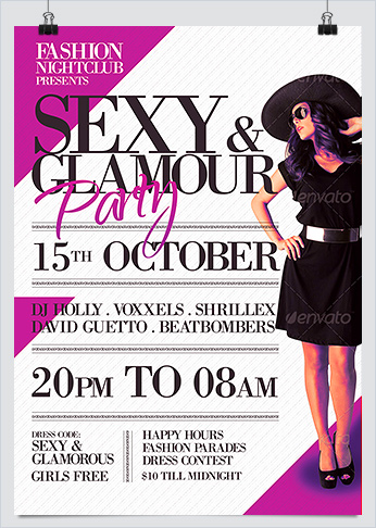 Sexy and Glamorous Party Photoshop Template