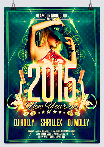 Sexy New Year Eve Party Flyer Template