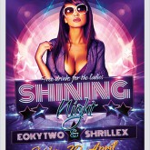 Shining Nights Dance Party Flyer photoshop template