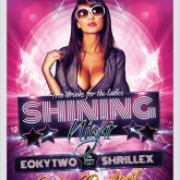Shining Nights Dance Party Flyer psd template