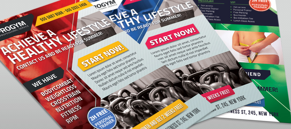 Free Sports Fitness Gym Business Flyer