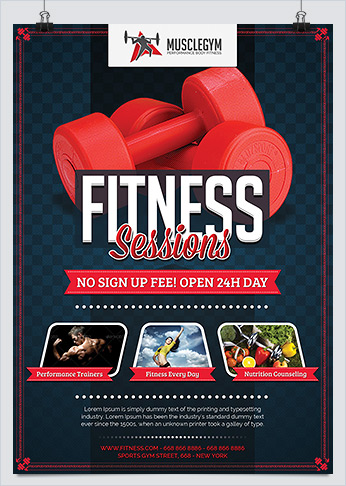 Best Fitness Business Flyers For Gym Marketing Hollymolly