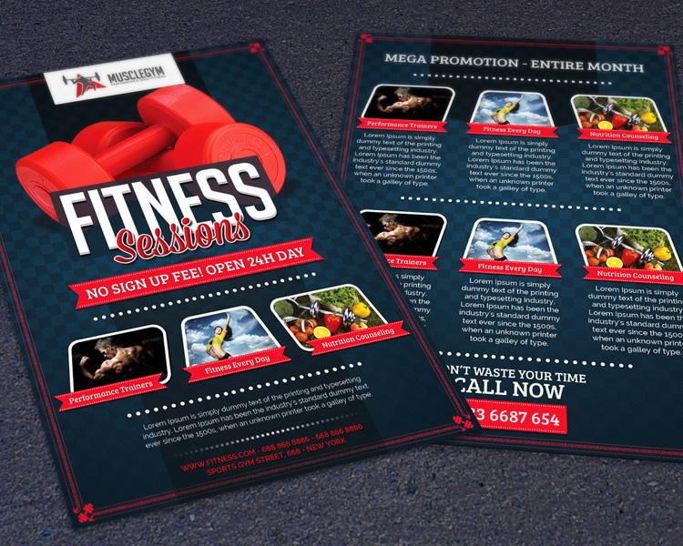 Sports, Fitness & Gym Promotion Flyer