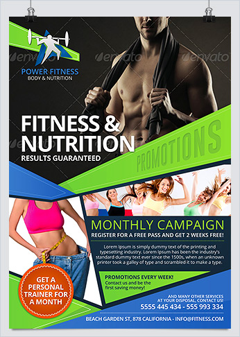 Sports Fitness & Nutrition Flyer