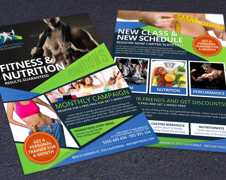 Sports Fitness & Nutrition Flyer