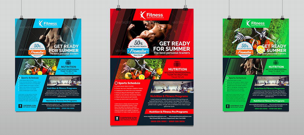 Sports Gym  Fitness Performance Flyer  Hollymolly
