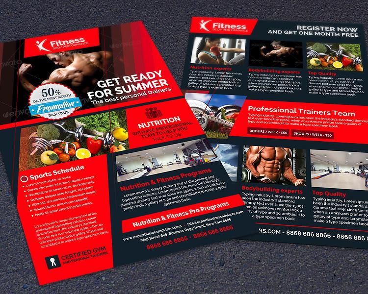 Sports Gym & Fitness Performance Flyer