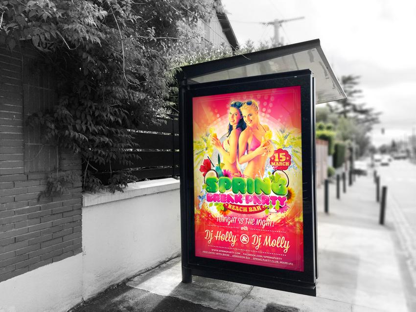 Spring Break & Summer Party Flyer