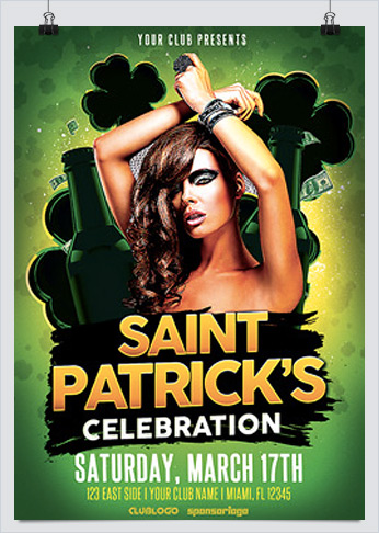 St. Patricks Day Celebration Flyer