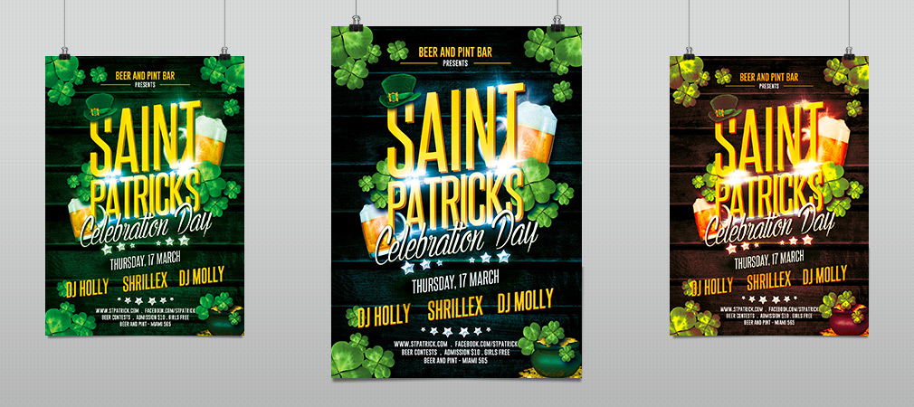 St. Patricks Celebration Party Flyer Template