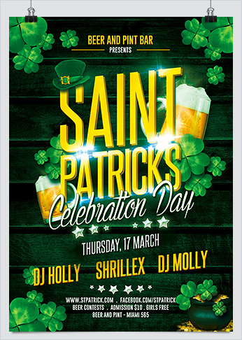 Printable St. Patricks Celebration Party Flyer