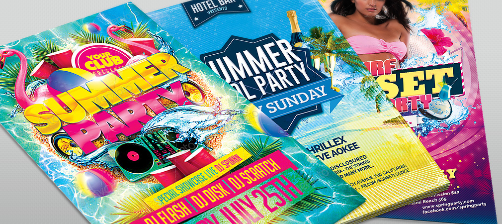 Summer Beach Party Flyers Collection #2