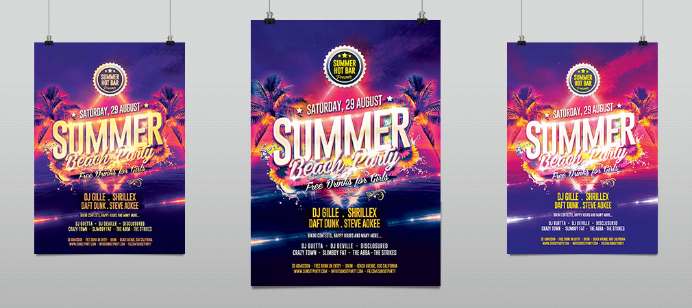 Summer Beach Party Event Flyer