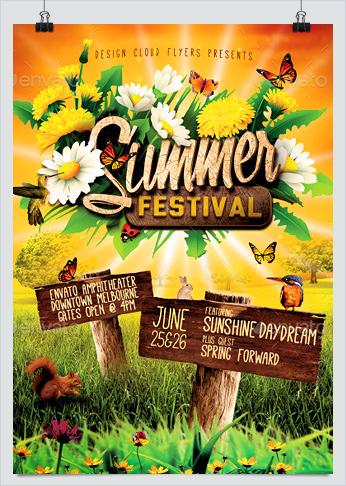 Summer Festival Flyer Template