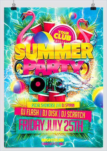 Dj Flyers For Summer Bbq