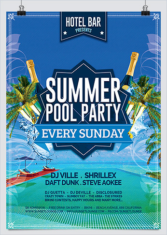 Summer Pool Party Flyer  Hollymolly
