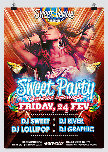 Rock and HipHop Party Flyer Template