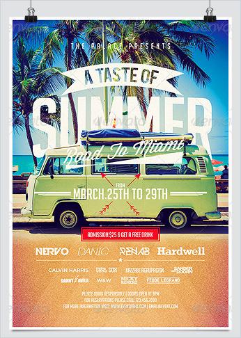 A Taste of Summer Flyer Template