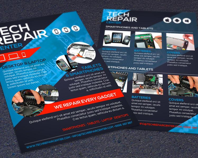 Printable Tech Repair Center Flyer