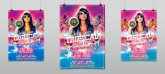 Tropical Summer Sunset Party Flyer