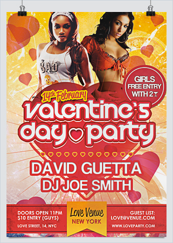 Valentine Day Party Flyers