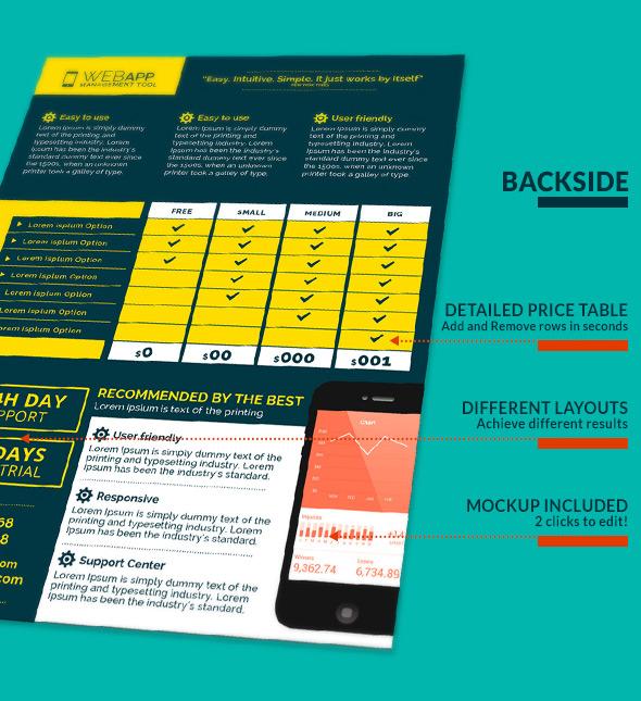 Web App Tech & Hosting Business Flyer Template