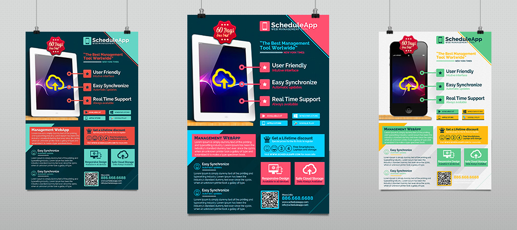 Web App  Technology Business Flyer  Hollymolly