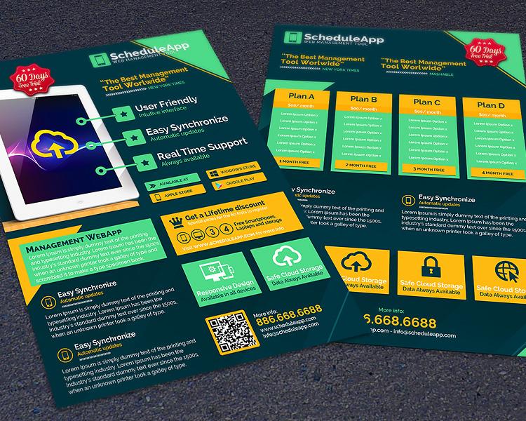 Web App & Technology Business Flyer Template