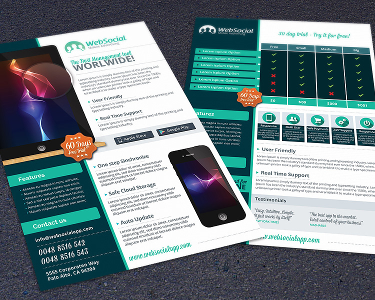 App & Web Service Promotion Flyer Template