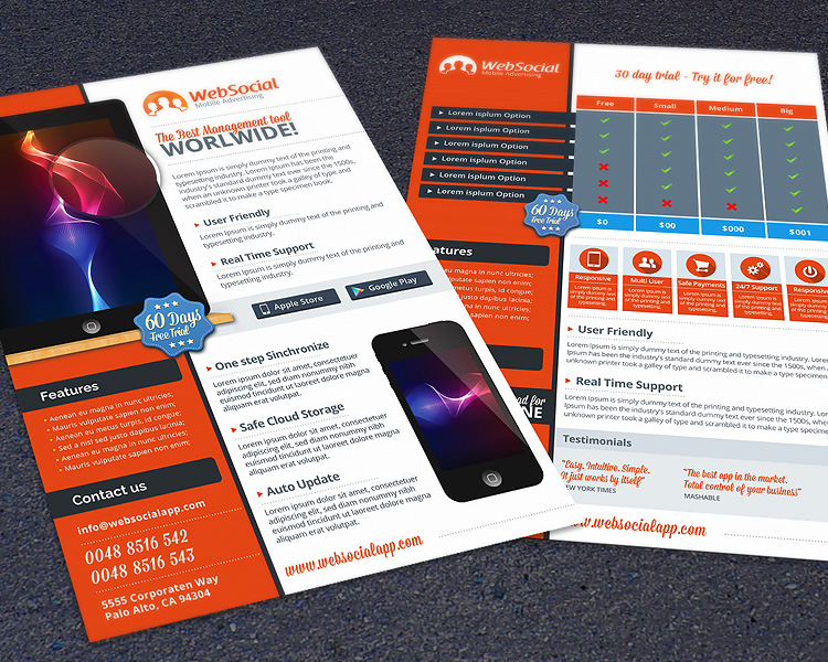 App & Web Service Promotion Photoshop Flyer Template