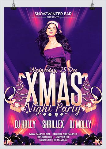 Xmas sexy night party flyer hollymolly xmas sexy night party flyer photoshop template saigontimesfo