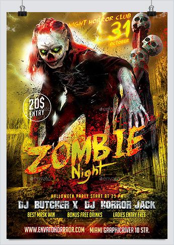 Zombie Flyer Templates